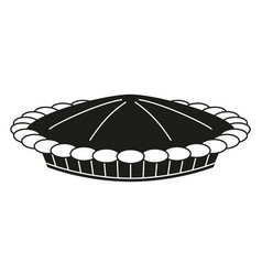 black and white thanksgiving pot pie silhouette vector image