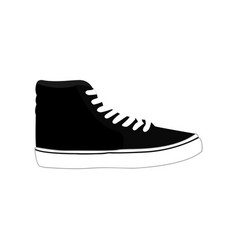 black casual sneaker shoes fashion style item vector image