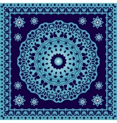 Blue bandana with round ornament vector image