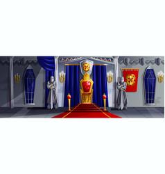 Castle room cartoon vector