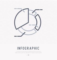 circle diagram thin line icon vector image