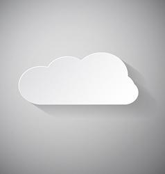 Cloud - Paper Cut vector image