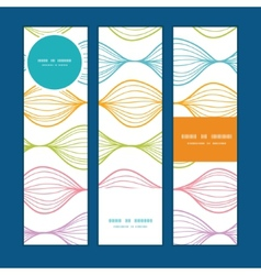 Colorful horizontal ogee vertical banners vector