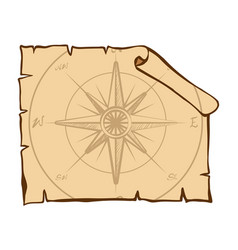 Compass on brown paper vector