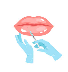 Cosmetology lip injection vector