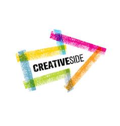 Creative side art colorful arrow design vector