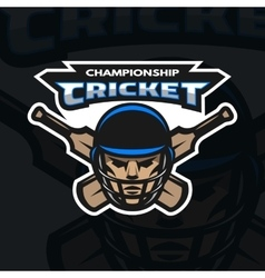 Cricket sport emblem vector