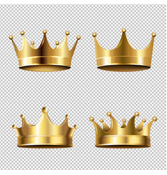 crown set isolated transparent background vector image