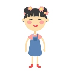 Cute girl vector image