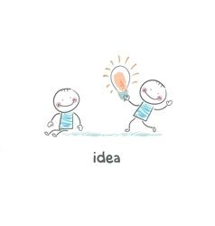 Exchange bulbs Concept ideas vector