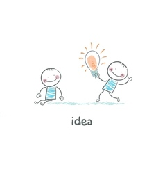 Exchange bulbs Concept ideas vector image