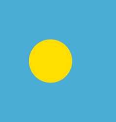 Flag of palau official colors and proportions vector