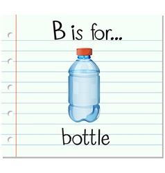 Flashcard letter B is for bottle vector
