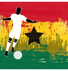 Football Ghana vector image