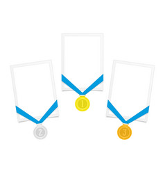 frame with award medal vector image