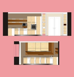 Furniture Kitchen Scan vector image