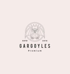 gargoyles gargoyle logo outline vector image
