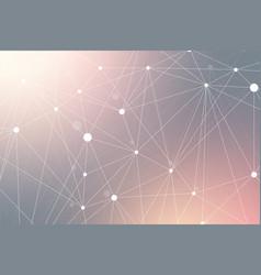 geometric scientific background molecule and vector image