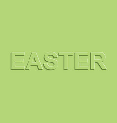 Greeting banners easter green pastel color shadow vector