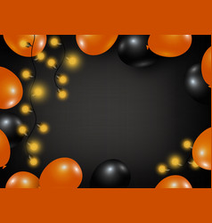Halloween background design of balloon and light vector