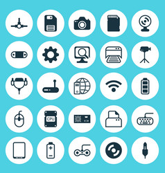 Hardware icons set collection of network vector