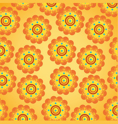 Hindu flowers tradition and decoration background vector
