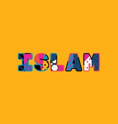 Islam concept word art vector