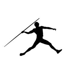 Javelin throw man athlete vector
