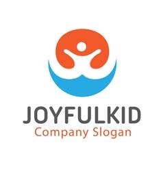 Joyful Kid Design vector