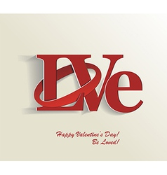 Lettering LOVE vector image
