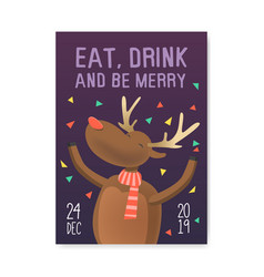 Merry christmas 2019 party poster invitation vector