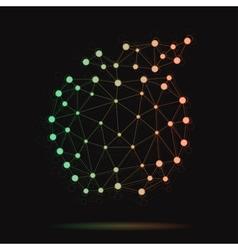 modern atomic apple vector image