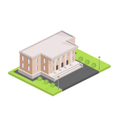 Museum building isometric vector