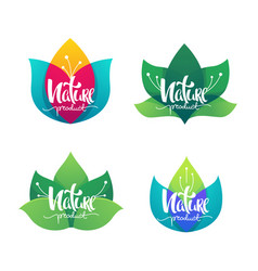 nature product collection simple flowers vector image