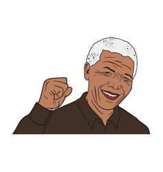 Nelson mandela portrait design vector