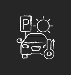 not staying in parked car chalk white icon vector image