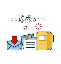 office email envelope folder file document work vector image