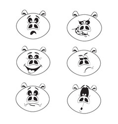 pig set funny pink pigs - 2019 chinese new year vector image