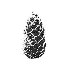 pine cone silhouette vector image