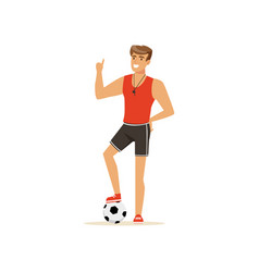 Professional fitness coach or instructor vector