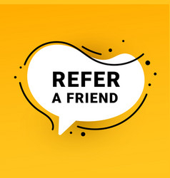 Refer a friend sticker and refer friends shopping vector