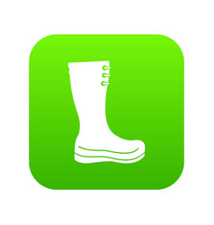 rubber boots icon digital green vector image