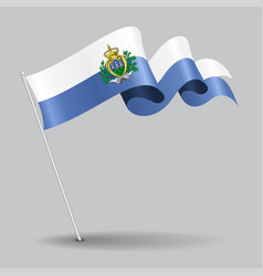 San marino pin wavy flag vector