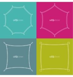 Set framework for multi colored backgrounds vector image