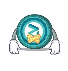 Silent zilliqa coin mascot cartoon vector