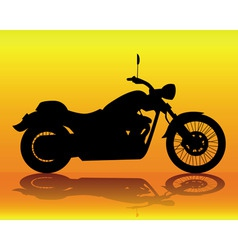 silhouette of an old motorcycle vector image