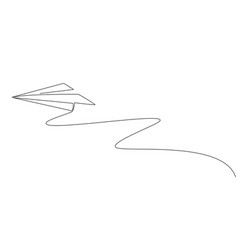 single continuous line drawing flying paper vector image