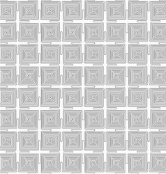 Slim gray square connecting spirals vector