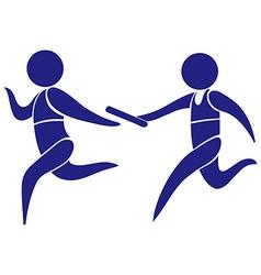 Sport logo for running relay vector image