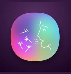 Summer allergy app icon vector